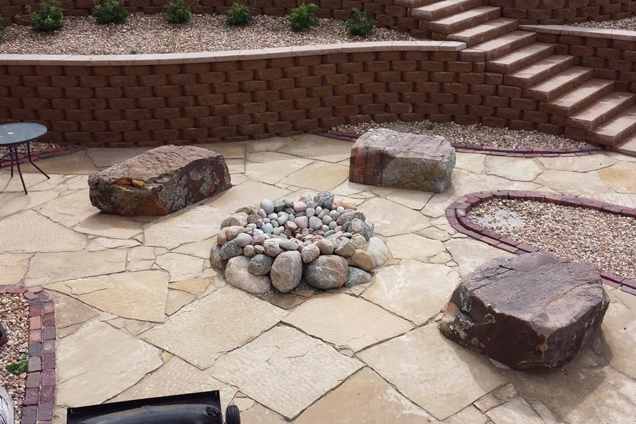 Glacier Boulders with Seating Stones