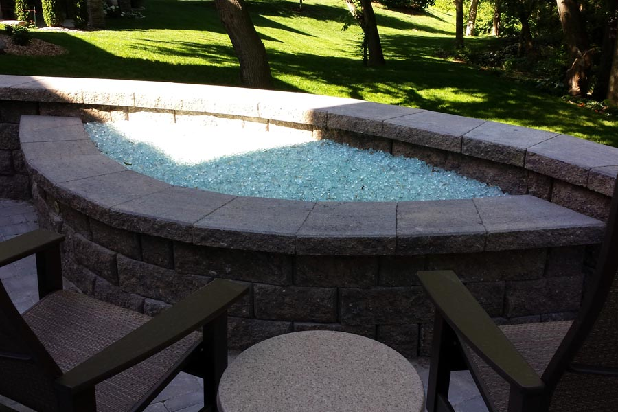 Glass Top Fire Feature