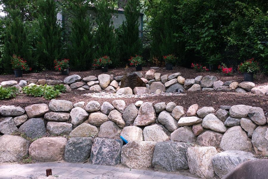 Natural Boulder Wall