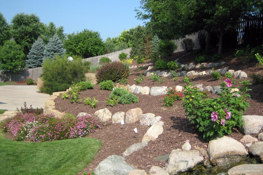 Terraced landscape design