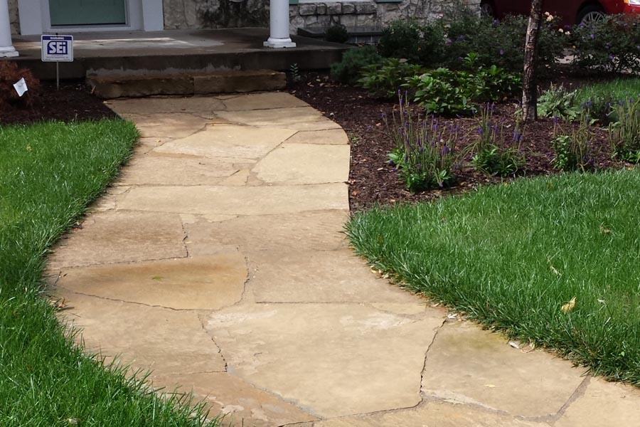 flagstone walkway