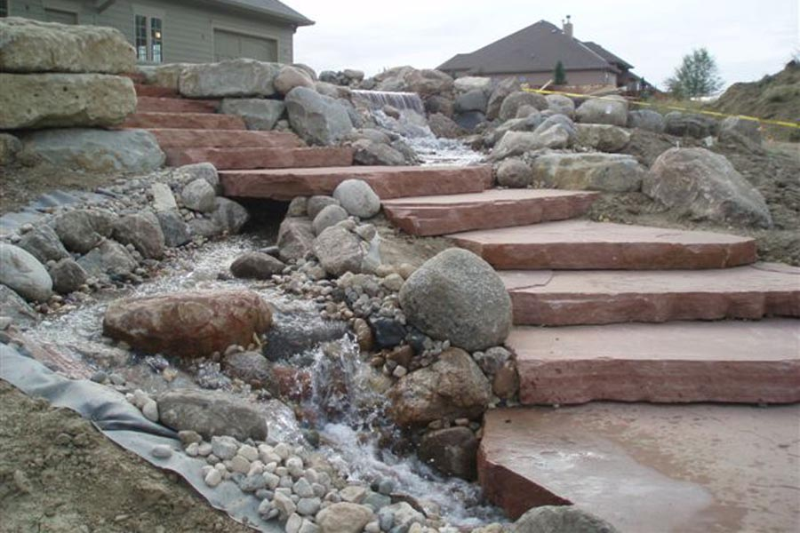 Flagstone Slab Steps