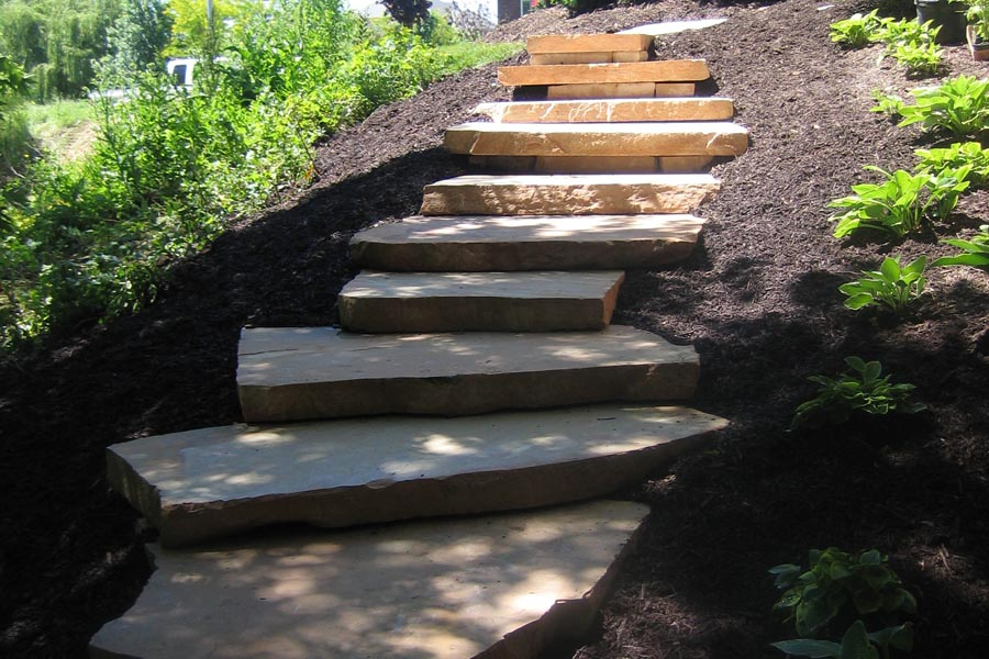 Peach Slab Steps with Terraces