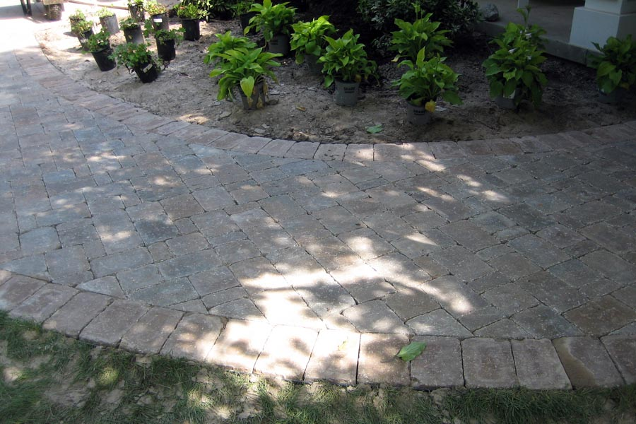 Cobble Stone Walkway