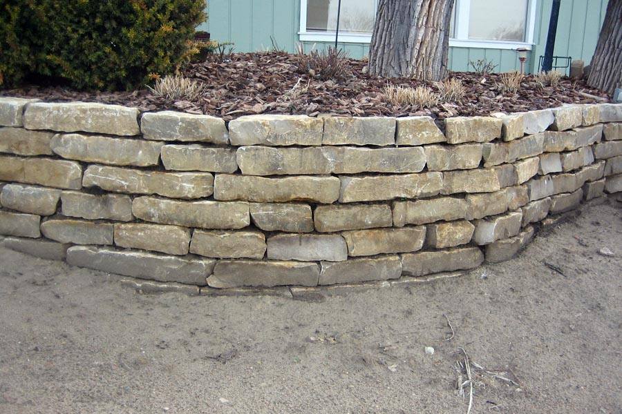 Landscaping With Limestone Blocks : Retaining walls jaymoorelandscaping