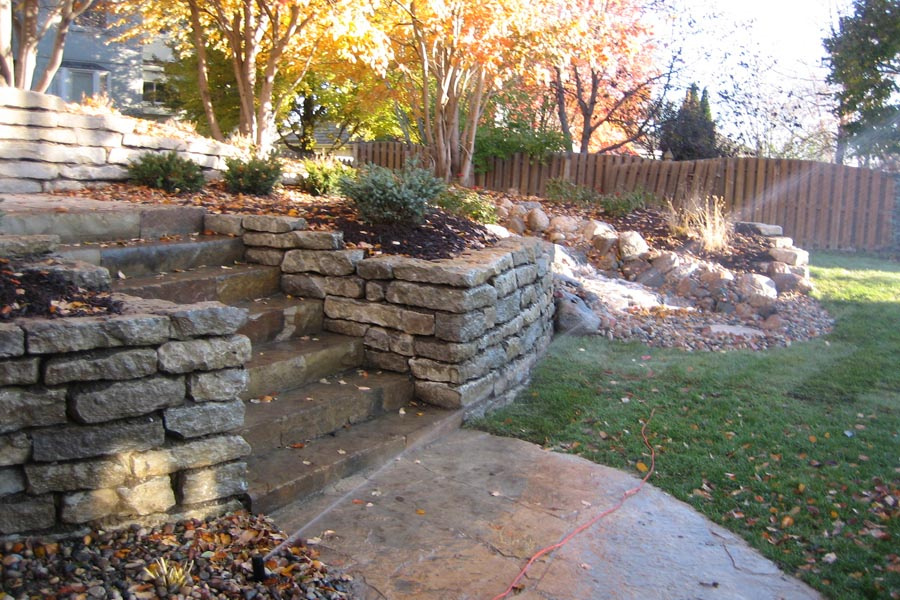 6 inch limestone with steps