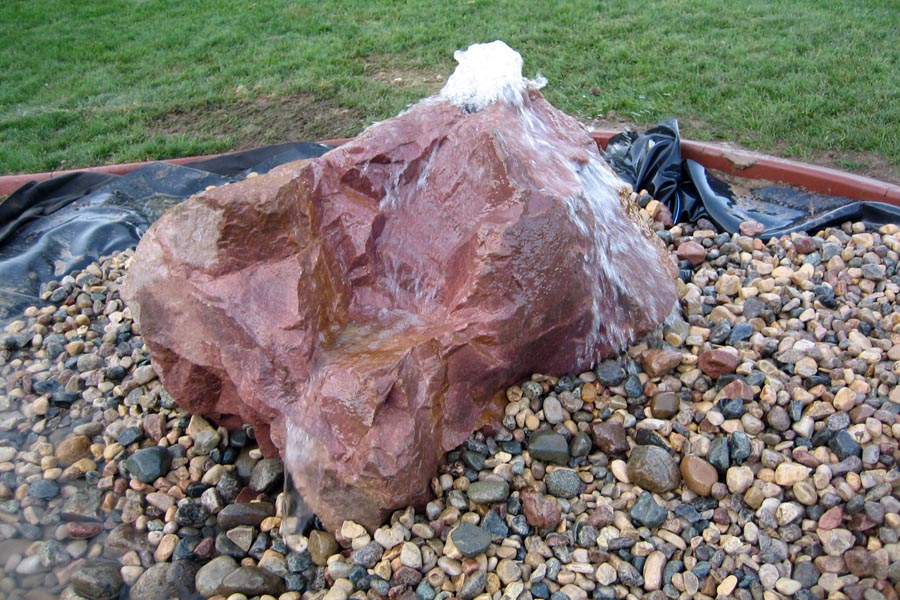 Single Boulder Bubbling Rock