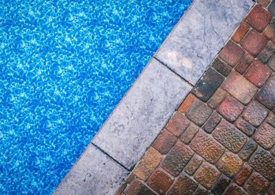 pool and pavers close up