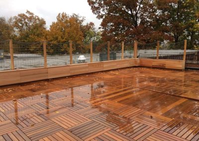 Plywood deck